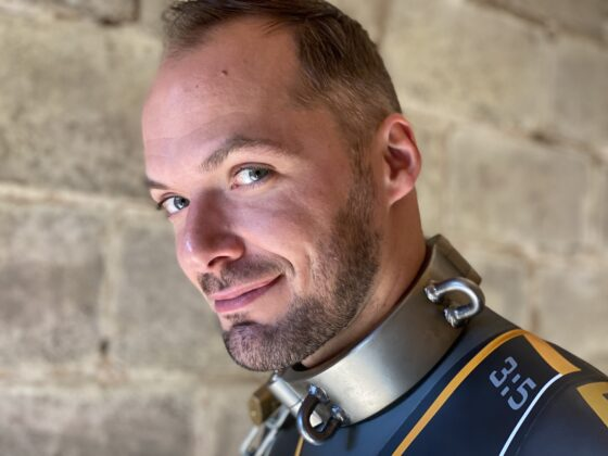Switch portrait pic with Huub wetsuit and Parus collar