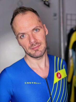 Switch portrait pic in Castelli Sanremo Free trisuit