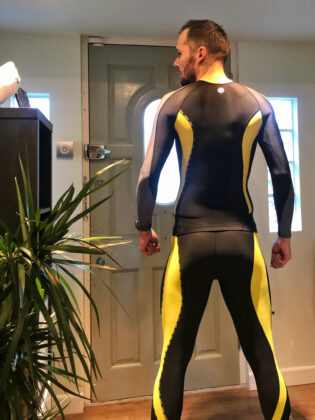 Switch in Skins lycra gear